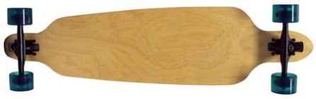 "Moose 38"" Natural Drop Thru Longboard Complete with Black Havoc Trucks"