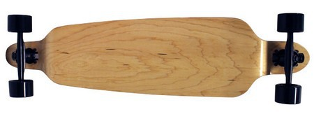 "Moose 39.75"" Natural Maple Double Drop Longboard Complete"