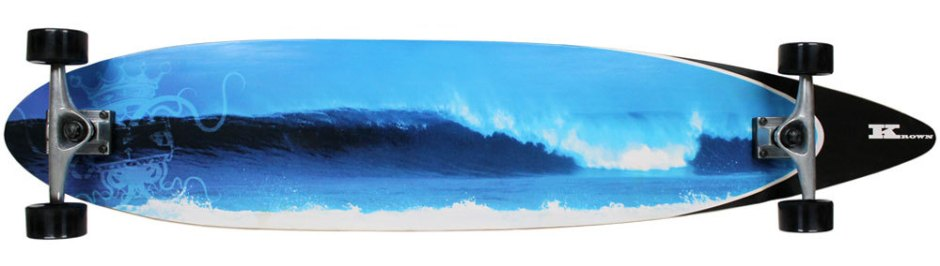 Krown City Surf Wave Pintail Longboard Complete (Bottom)