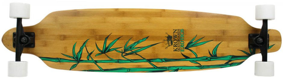Krown Exotic Bamboo Freestyle Longboard Complete (Bottom)