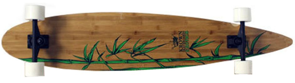 "46"" Krown Exotic Bamboo Pintail Longboard Complete (Bottom)"