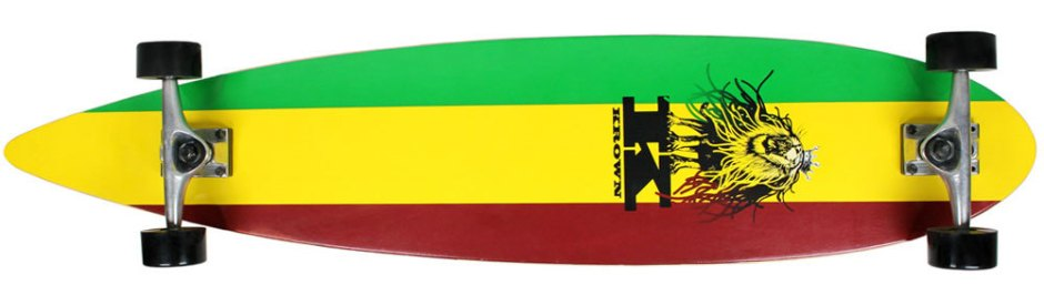 Krown Rasta Pintail Longboard Complete (Bottom)