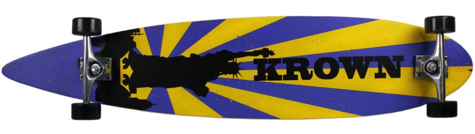 Krown Liberty Pintail Longboard Complete (Bottom)