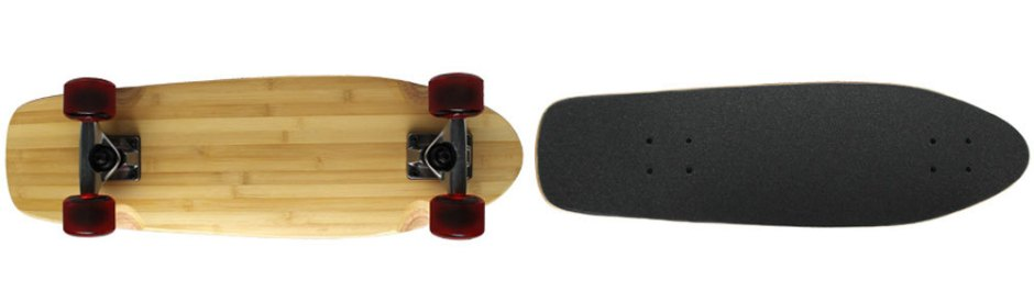 Moose Light Stain Bamboo Mini Cruiser Longboard Complete