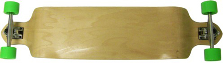 "Moose 41.25"" x 9.75"" Natural Drop Down Maple Longboard Complete"