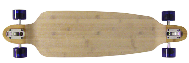 "Moose 39.75"" Bamboo Baked Double Drop Longboard Complete (Top Profile)"