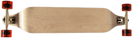 "Moose 40"" Natural Maple Drop Down Longboard Complete"