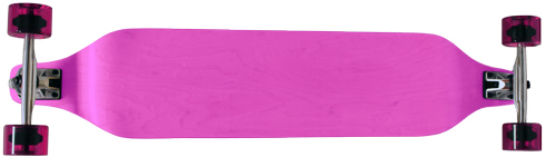 "Moose 40"" x 8"" Pink Drop Down Maple Longboard Complete"