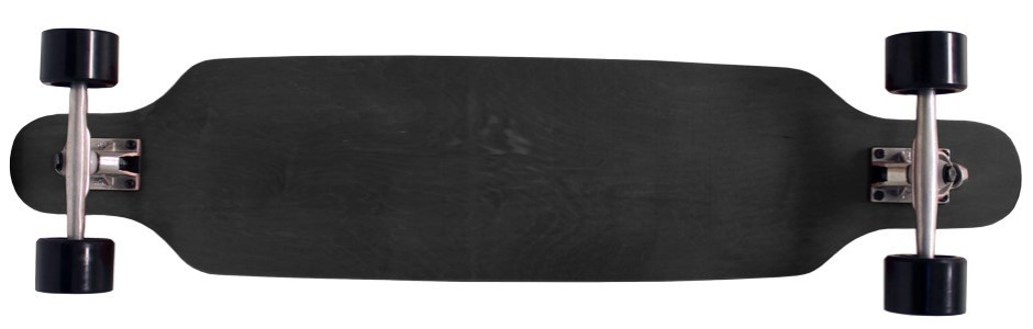 "42"" Moose Black Flush Mount Longboard Complete"