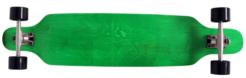 "42"" Moose Green Flush Mount Longboard Complete"