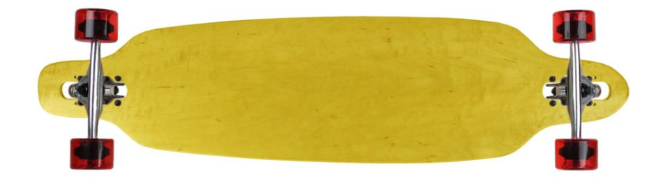 Moose Yellow Stain Drop Thru Longboard Complete with Semi-Transparent Wheels
