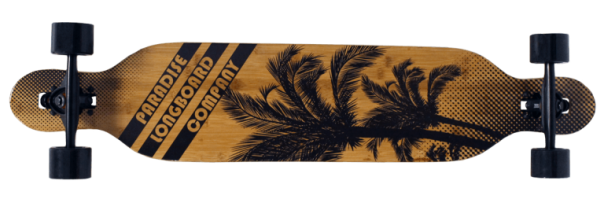 Paradise Bamboo Brown Palms Longboard Complete