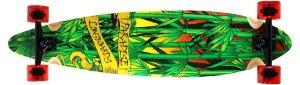 Paradise Rasta Bamboo 3 Longboard Complete