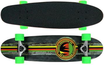 Paradise-Barking-Rasta-Stain-Cruiser-Longboard-Complete-Black