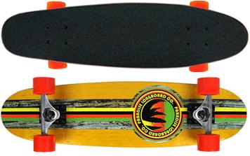 Paradise-Barking-Rasta-Stain-Cruiser-Longboard-Complete-Yellow
