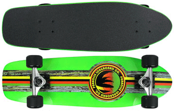 Paradise-Barking-Rasta-Stain-Green-with-Black-Grip-Tape