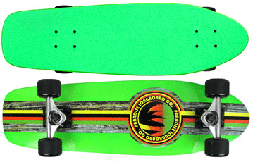 Paradise-Barking-Rasta-Stain-Neon-Green-with-Green-Grip-Tape
