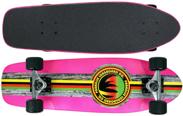 Paradise-Barking-Rasta-Stain-Pink-with-Black-Grip-Tape