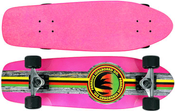 Paradise-Barking-Rasta-Stain-Pink-with-Clear-Grip-Tape