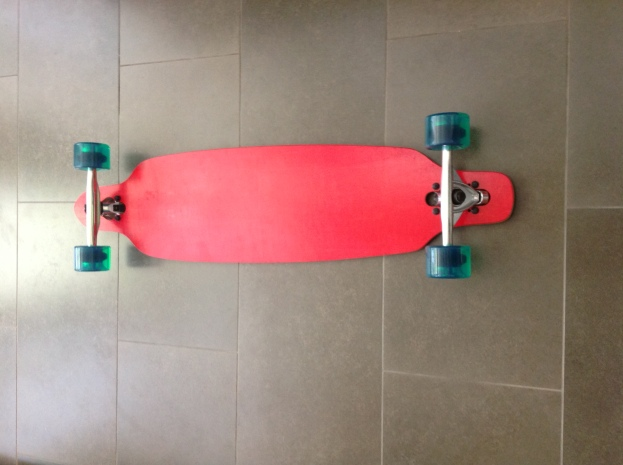 Moose Red Drop-Through Longboard Complete Bottom