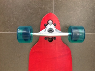 rop-Through Longboard Complete Truck Detail
