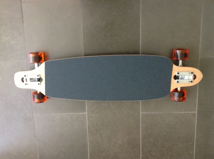 Moose Red Drop-Through Longboard Complete Top