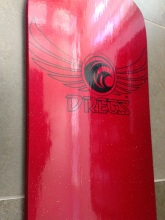 Red Glitter Dregs Deck Bottom