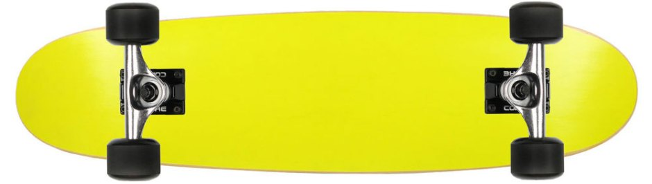 Moose Neon Yellow Canadian Cruiser Longboard Complete