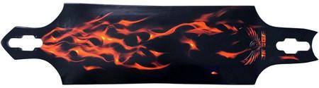 Dregs-Black-Red-Flames-Longboard-Deck