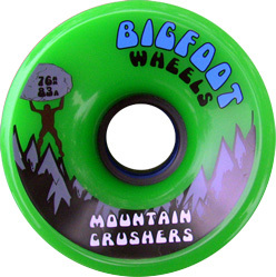 bigfoot-wheel-76mm-83a-mountain-crushers-green-longboard-wheel-single