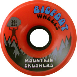 bigfoot-wheel-76mm-83a-mountain-crushers-orange-longboard-wheel-single