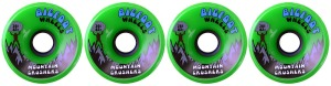 bigfoot-wheel-76mm-83a-mountain-crushers-set-of-4-green-longboard-wheels