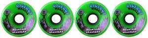 bigfoot-wheel-76mm-83a-mountain-crushers-set-of-4-green-longboard-wheels
