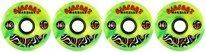 bigfoot-wheel-76mm-84a-marbles-swirl-set-of-4-yellow_green-longboard-wheels