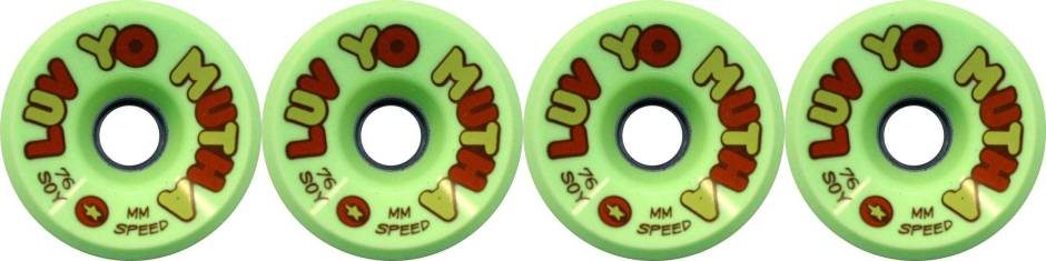 dregs-76mm-luv-yo-mutha-green-soy-compound-longboard-wheels-set-of-4