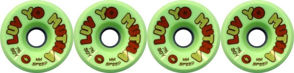 dregs-76mm-luv-yo-mutha-green-soy-compound-longboard-wheels-set-of-4