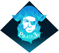 Pirate 3D Logo
