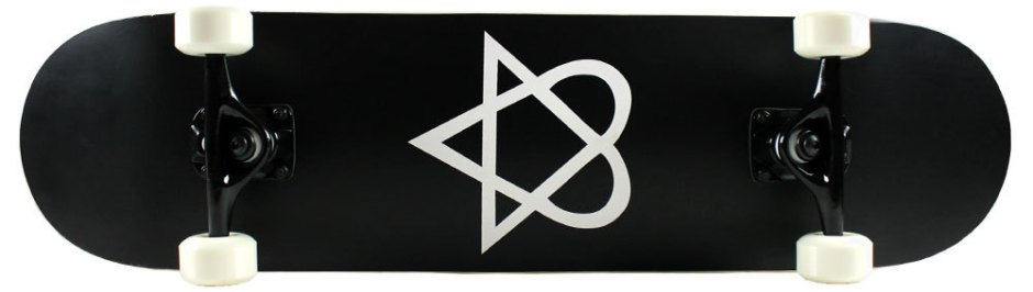 Krown Black and White Heartagram Skateboard Complete