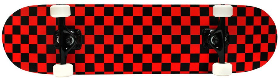 Krown Checkered Red and Black Skateboard Complete