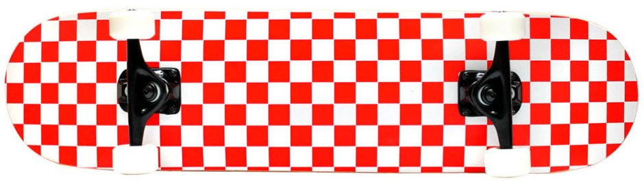 Krown Checkered Red and White Skateboard Complete