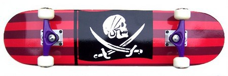 Krown Pirate Skull Flag Skateboard Complete