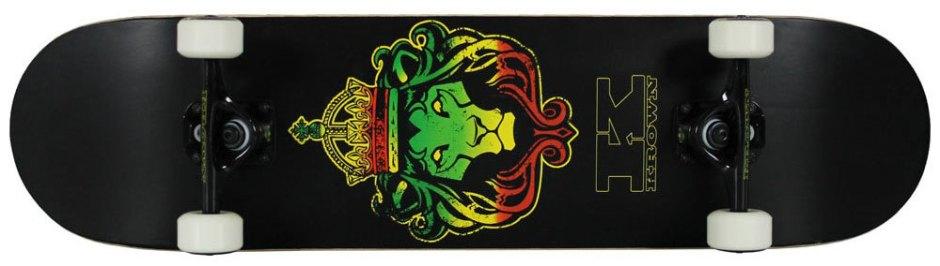 Krown Pro Rasta Lion Skateboard Complete