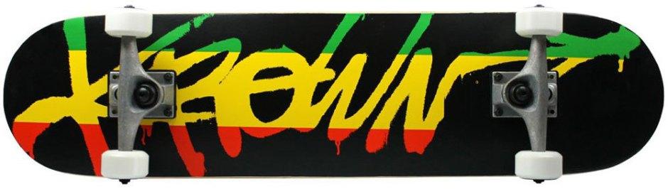 Krown Rookie Rasta Script Skateboard Complete