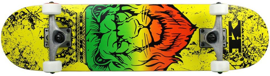 Krown Rookie Rasta Lion Skateboard Complete