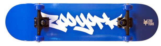 "31"" x 7.6"" Zoo York Manhattan Blue Skateboard Complete"