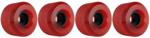 nova-wheel-61mm-transparent-red-shaved-center-set-set-of-4-longboard-wheels