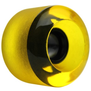 nova-wheel-61mm-transparent-yellow-shaved-center-set-single-longboard-wheel