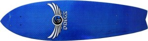 Dregs Fiberfish Blue Fishtail Deck (Complete Includes Assembled Deck with Trucks and Wheels)