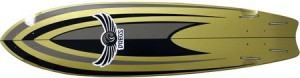 Dregs Ditch Surf Fishtail Deck (Complete Includes Assembled Deck with Trucks and Wheels)