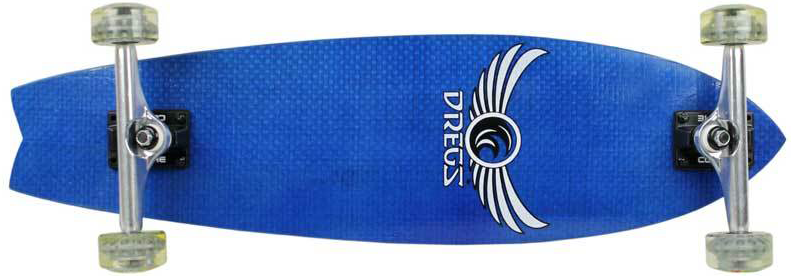 Fiberflex Blue Carbon Fiber Longboard